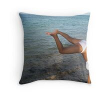 Carwheel Spin that got sand on my knees  Throw Pillow