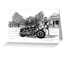 Biker Angel Greeting Card
