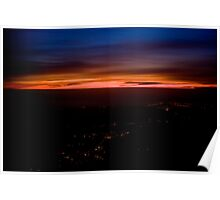 Sunset over Bristol from plane 2 Poster