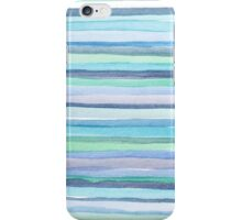blue watercolor lines iPhone Case/Skin