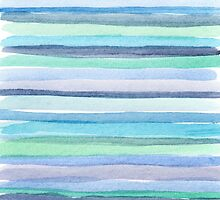blue watercolor lines by Nicolaiivanovic