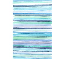 blue watercolor lines Photographic Print