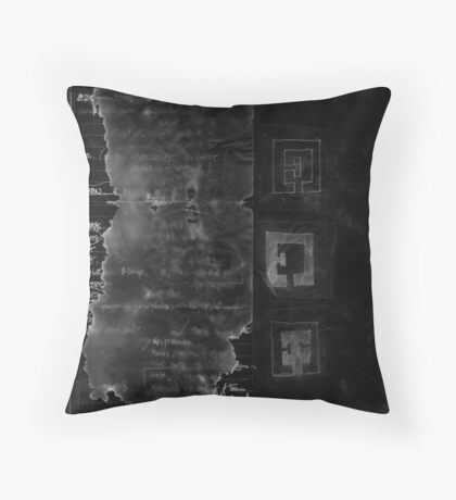 Page of Prospero's book Throw Pillow