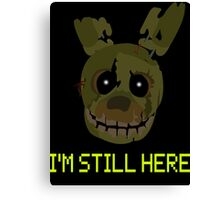 five nights at freddy's 3 - springtrap Canvas Print