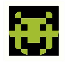 Pixel Space Invaders Art Print