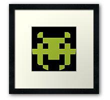 Pixel Space Invaders Framed Print