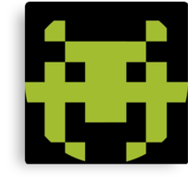 Pixel Space Invaders Canvas Print