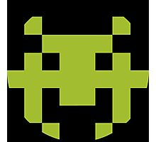 Pixel Space Invaders Photographic Print