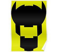Batman Design Black Poster