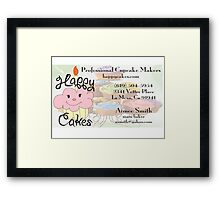 Happy Cakes Business Card Framed Print