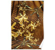 Abstract Floral Trappings Poster