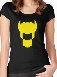 Batman Design Yellow Women's Fitted Scoop T-Shirt