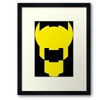 Batman Design Yellow Framed Print