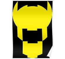 Batman Design Yellow Poster
