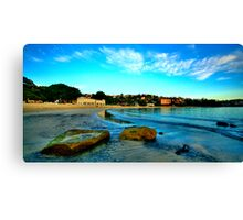 On The  Rocks - Balmoral Beach, Sydney - The HDR Experiencee Canvas Print
