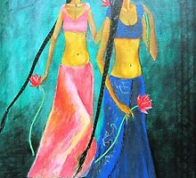 Flowers & girls by ramya kapula