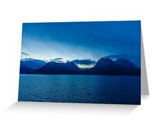 Norway Sea and Mountains Greeting Card