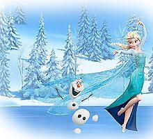 Olaf and Elsa by dadha21