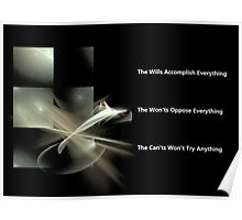 The Wills The Won'ts & The Can'ts Poster