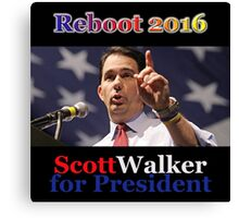 Scott Walker for President 2016 Canvas Print