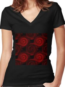 Abstract background 2 Women's Fitted V-Neck T-Shirt