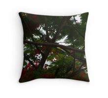 Bird Favorite Hidding Place Throw Pillow