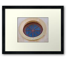 The Window is Round Framed Print