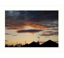 Sunset Silhouette 2 Art Print