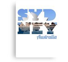 SYDNEY - text with opera house picture Canvas Print