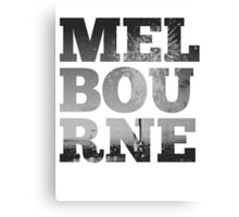 MELBOURNE - text with Bolte Bridge Picture Canvas Print
