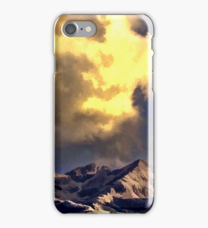 Clouds Over The Cuillins iPhone Case/Skin