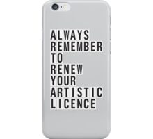 LICENCE RENEWAL iPhone Case/Skin