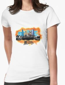Melbourne City- City Collage Womens Fitted T-Shirt