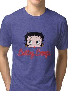 Betty Boop Cartoon Head Tri-blend T-Shirt