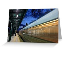 The train left at 8 Greeting Card
