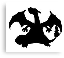 Black Charizard Canvas Print