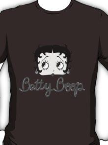Betty Boop Cartoon Head Black and White T-Shirt