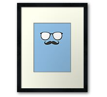 Sunglasses and Mustache Framed Print
