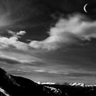 Moonrise in the Rockies by Wayne King