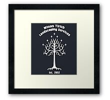Minas Tirith Landscaping Services Humor Framed Print