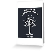 Minas Tirith Landscaping Services Humor Greeting Card