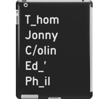 Thom, Jonny, Colin, Ed, and Phil - Radiohead iPad Case/Skin