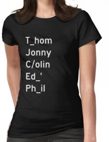 Thom, Jonny, Colin, Ed, and Phil - Radiohead Womens Fitted T-Shirt