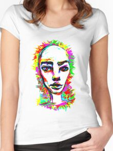 Psychedelic-Pop; Miss Prabrah Brows Women's Fitted Scoop T-Shirt
