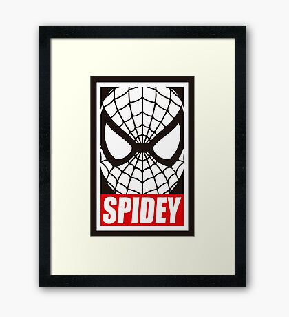 SPIDEY Framed Print
