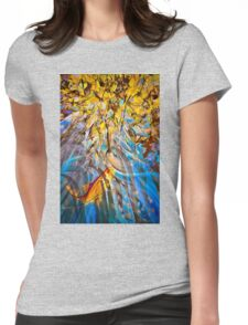 Trout Stream Womens Fitted T-Shirt
