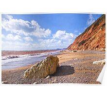 Branscombe Beach - Impressions Poster