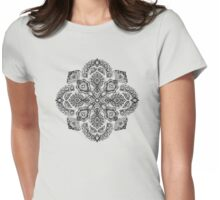 Pattern in Black & White Womens Fitted T-Shirt