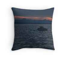 Going Fast Throw Pillow