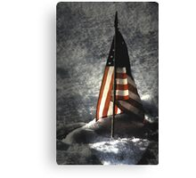 Dad, please come home for Christmas! Canvas Print